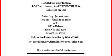 Free Drive-Thru Dinner FINALE tickets