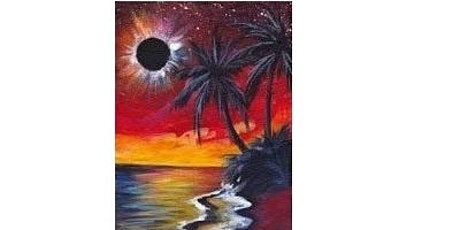 Eclipse at the Beach Paint Night  For  All Ages,  Only  15 Spots $20 tickets