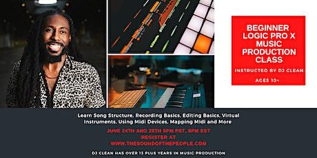 Beginner  Logic Pro X Music Production Class tickets