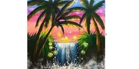 Summer Waterfall Paint Night For All Ages, Only 15 Spots $20 tickets