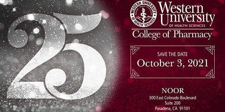 WesternU College of Pharmacy 25th Anniversary Gala tickets