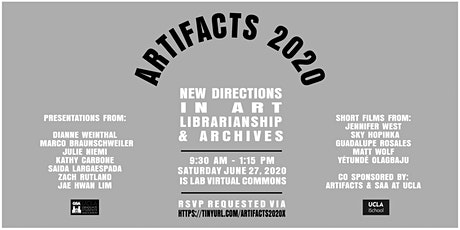 Artifacts 2020 x New Directions in Art Librarianship + Archives tickets