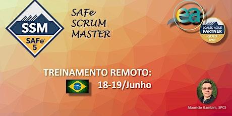 Curso remoto SAFe® SSM (Scrum Master) com  exame para certificação entradas