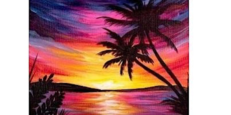 Sunset Beach Paint Night For All Ages, Only 15 Spots  $20 tickets