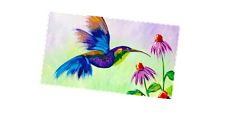 Flying Hummingbird Paint Night For All Ages, Only 15 Spots  $20 tickets