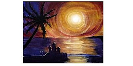 Sunset at the Beach Paint Night For All Ages, Only 15 Spots  $20 tickets
