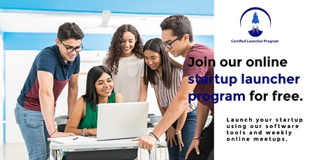 Join our online startup launcher program for free. boletos