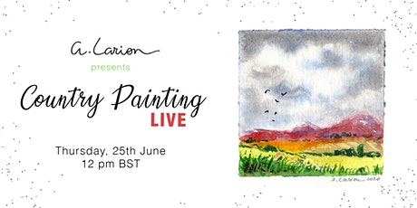 Country Painting LIVE - Watercolour Painting Tutorial - Hills study tickets
