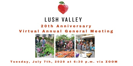 LUSH Valley 2020 Annual General Meeting tickets