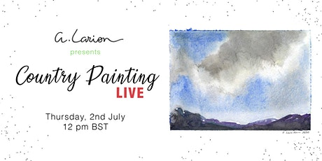 Country Painting LIVE - Watercolour Painting Tutorial - Clouds study tickets