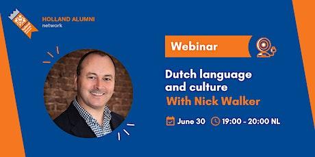 Webinar: Dutch language and culture tickets
