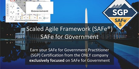 Certified SAFe® Government Practitioner tickets