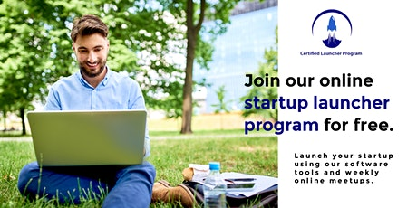 Join our online startup launcher program for free. entradas