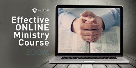 Effective Online Ministry: Understanding, Creating and Launching tickets