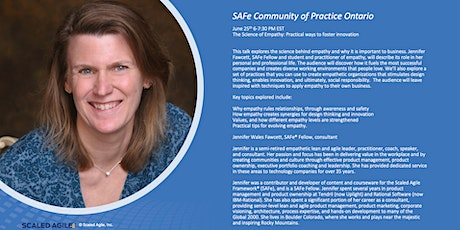 The Science of Empathy: Practical ways to foster innovation -SAFe CoP Ontario June edition tickets