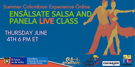 Ensálsate, Salsa and Panela Colombian Salsa Live lessons tickets