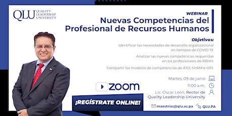 Webinar: Nuevas Competencias del Profesional de Recursos Humanos entradas