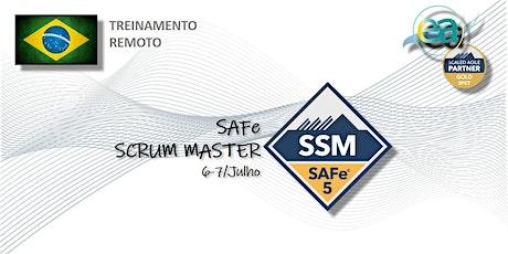 Treinamento remoto SAFe® Scrum Master com  exame para certificação entradas