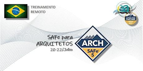 Treinamento remoto SAFe® ARCH p/ Arquitetos  com  exame para certificação bilhetes