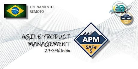Treinamento remoto SAFe® Agile Product Management c/ exame p/certificação ingressos