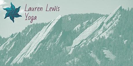 Outdoor Yoga Class with Lauren Lewis- 1:30pm tickets