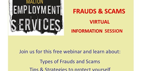Frauds & Scams - Protect Yourself! tickets