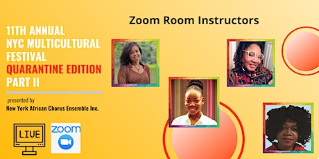 Zoom Rooms: 11th Annual NYC Multicultural Festival Quarantine Edition part II tickets