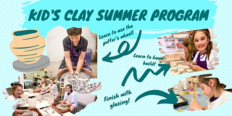 Kids Clay Summer Program (Monday-Thursday: August 10th-13th) tickets