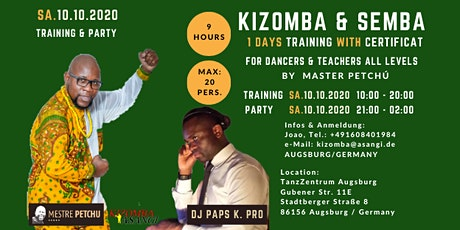 Kizomba & Semba Training with Certificat by Master Petchú Tickets