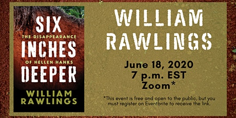 """William Rawlings discusses """" Six Inches Deeper ..."""" tickets"""