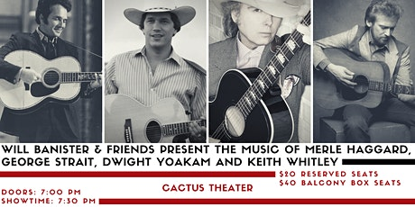 Will Banister & Friends: Haggard, Strait, Yoakam & Whitley Tribute tickets