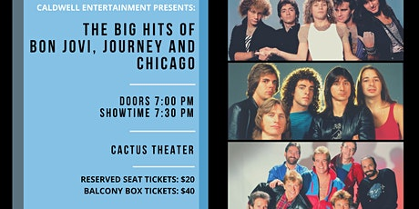 The Big Hits of Bon Jovi, Journey & Chicago tickets