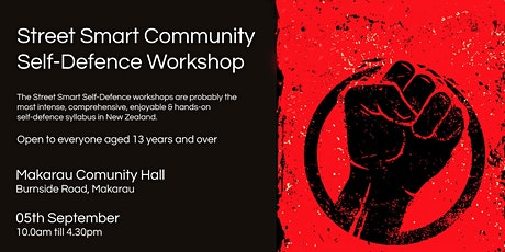 Street Smart Community Self-Defence Workshop - Makarau Sept 2020 tickets