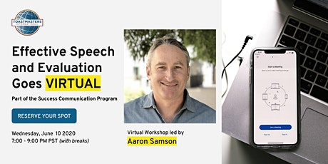 Effective Speech and Evaluation Goes Virtual tickets