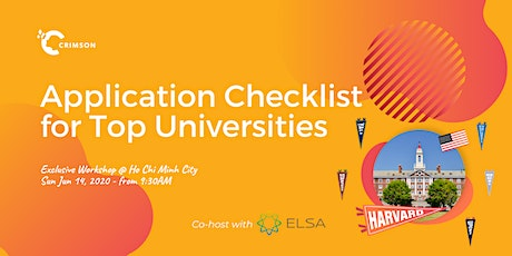 Application Checklist for Top Universities - VN tickets