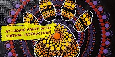 PAW PRINT Mandala Dot Painting with Virtual Instruction from Brush & Cork