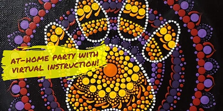 PAW PRINT Mandala Dot Painting with Virtual Instruction from Brush & Cork tickets
