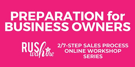 SALES PREPARATION for BUSINESS OWNERS tickets