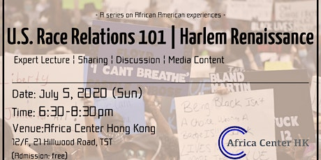 U.S. Race Relations 101 | Harlem Renaissance tickets