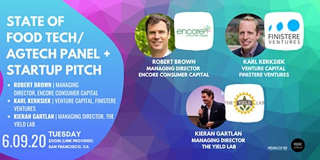 State of Food Tech/AgTech  Panel + Startup Pitches (On Zoom) tickets