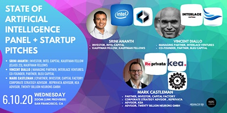 State of Artificial Intelligence  Panel + Startup Pitches (On Zoom) tickets