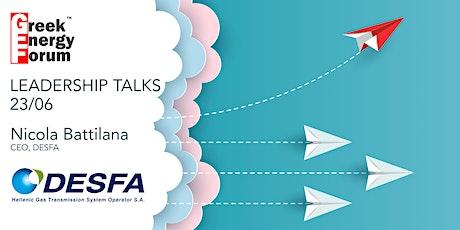 GEF Energy Leaders Talks: Nicola Battilana - CEO, DESFA tickets