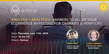 Analysis + Analytics: eCommerce Marketing Solutions for Cannabis & Hemp/CBD tickets