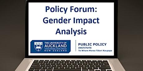 Gender Impact Analysis Policy Forum 2 tickets