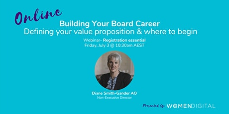 Building Your Board Career: Defining Your Value Proposition & How To Begin tickets