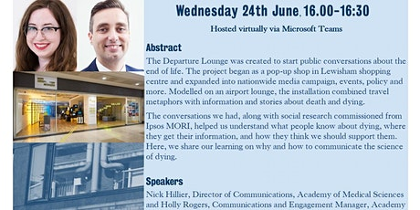 CSI Seminar Series: How opening a shop helped us learn to talk about death tickets