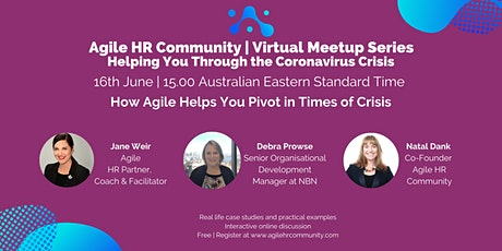 Agile HR Virtual Meetup | How Agile Helps You Pivot in Times of Crisis Tickets