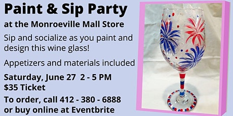 Monroeville Location: Paint a Wine Glass! tickets
