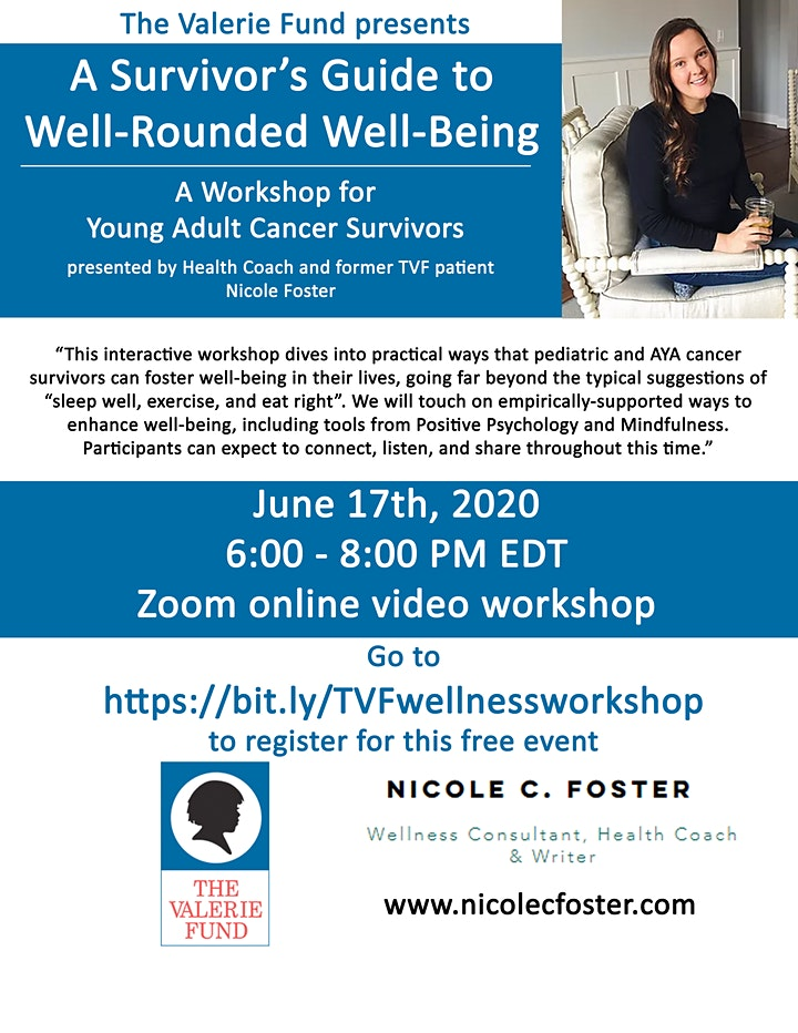 The Valerie Fund presents A Survivor's Guide to  Well-Rounded Well-Being image