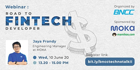 "BNCC TECHNO TALK II ""Road to Fintech Developer"" WEBINAR tickets"